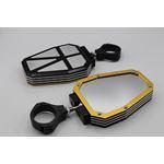 2 x ALUMINUM UTV Side Mirrors 175 Polaris Ranger RZR 800 900 1000 Can-Am YELLOW