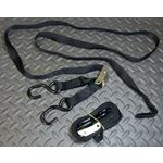 """2 x Vito's Tie Down Straps-BLACK 8 foot 96"""" long by 1"""" wide-NEW Motorcycle ATV"""