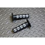 ATV handlebar grips Vito's BLACK GRAY 7/8 for twist throttle Yamaha Honda Suzuki