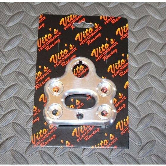 Vito's billet aluminum handlebar clamp Yamaha Banshee steering stem key holder