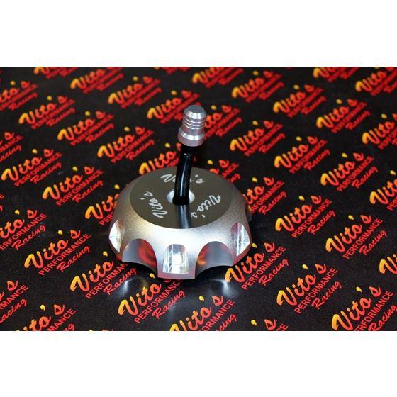 VITO's aluminum Gas tank cap Yamaha Banshee YFZ450 Raptor 660 w/ billet vent cap