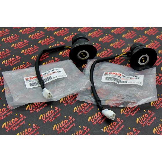 2 X Headlight Sockets Genuine Oem Yamaha Banshee Grizzly Big Bear Kodiak Rhino