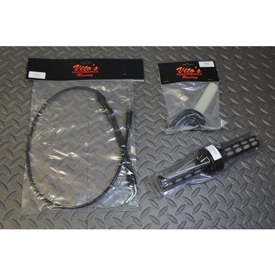 VITO's Banshee Mikuni carb twist throttle setup grips cable 1987-2006