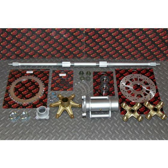 "New Vito's 2"" Banshee Rear Setup Axle Carrier Rotor Hubs Sprocket 40 Tooth"